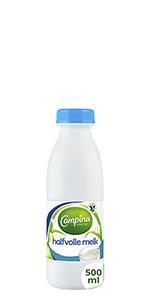 Campina Langlekker halfvolle melk 500ml