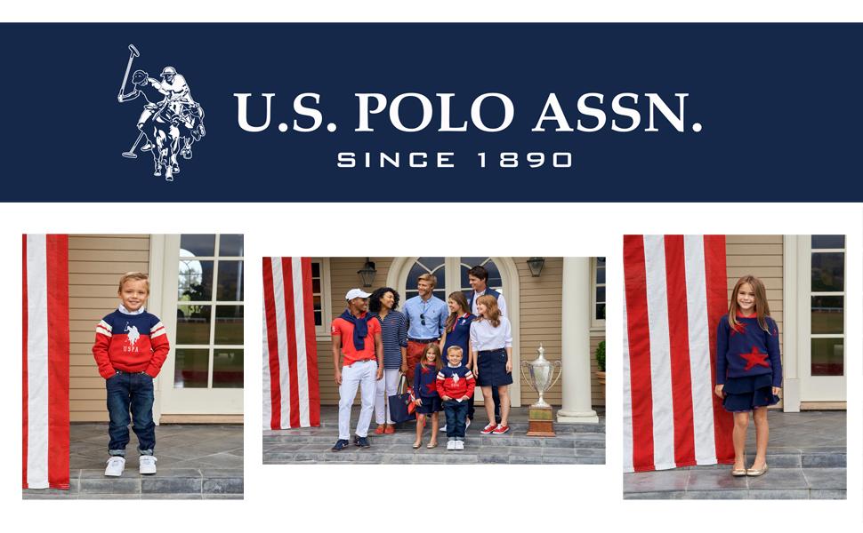 Little Boys Fleece Jogger Pant 4 American Flag Black Polo Assn U.S