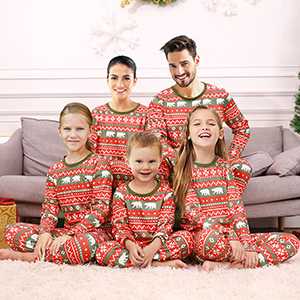 polar bear family pj set