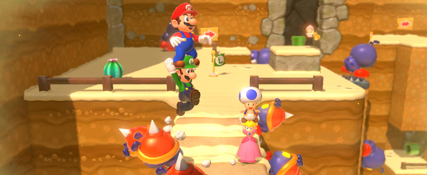 Mario and friends working together!