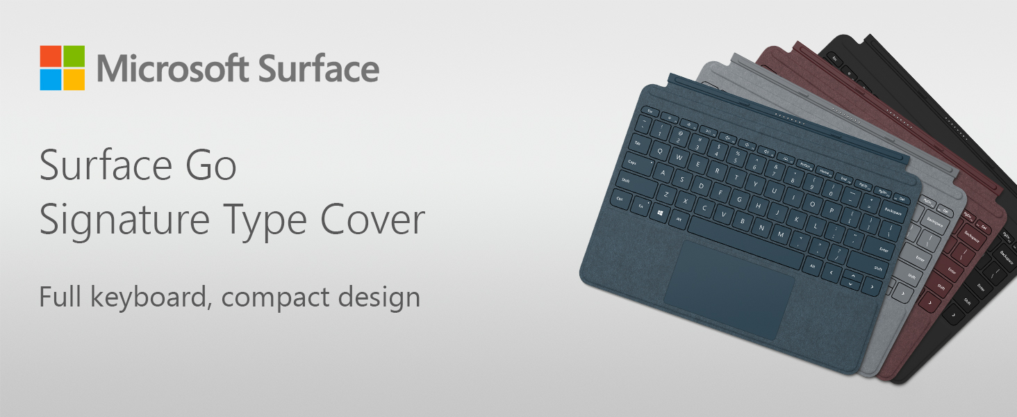 Amazon.com: Microsoft Surface Go Type Cover (Black): Computers & Accessories