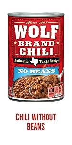 Wolf Brand Canned Chili without Beans
