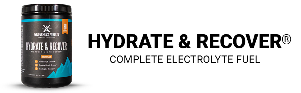 Hydrate amp; Recover, Hydration, Wilderness Athlete, Vitamin C, BCAAs, Electrolytes