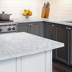 White Diamond Kitchen. Giani Countertop Paint