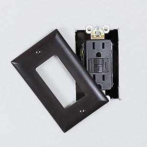 Legrand-Pass /& Seymour 1597TRCC4 Series 15A BRN Self Test GFCI Wallplate Included Brown