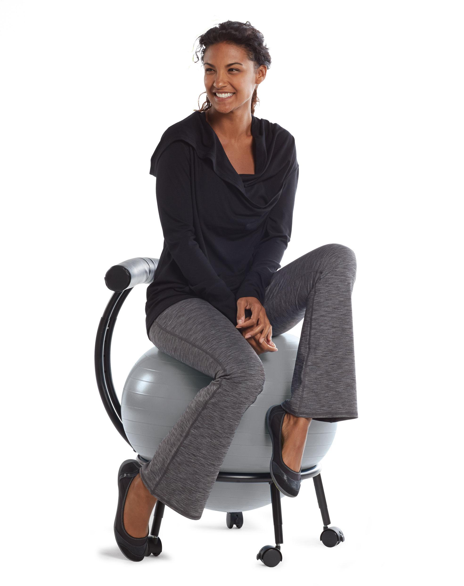 Amazon Com Gaiam Adjustable Custom Fit Balance Ball Chair