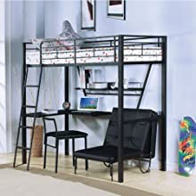 Desk and Bunk Bed