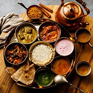 traditional indian meal