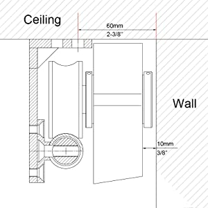Diyhd Ssceiling 5ft Stainless Steel Ceiling Bracket