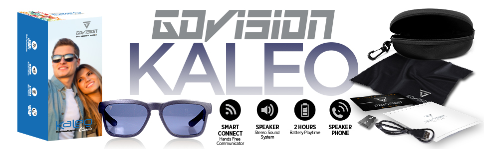 b6ed1f9ca2 GoVision Kaleo Smart Bluetooth Speaker Sunglasses| Polarized Lenses| Water  Resistant| Bluetooth 4.2| Compatible with All iPhone, Android Phones and ...