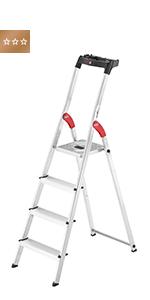8040-607 belastbar bis 150 kg 6 XXL-Stufen Hailo L80 ComfortLine Alu-Sicherheits-Stehleiter made in Germany