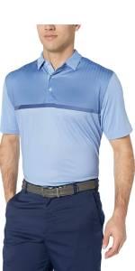 Men's Basics Short Sleeve Modern Chest Stripe Polo Shirt