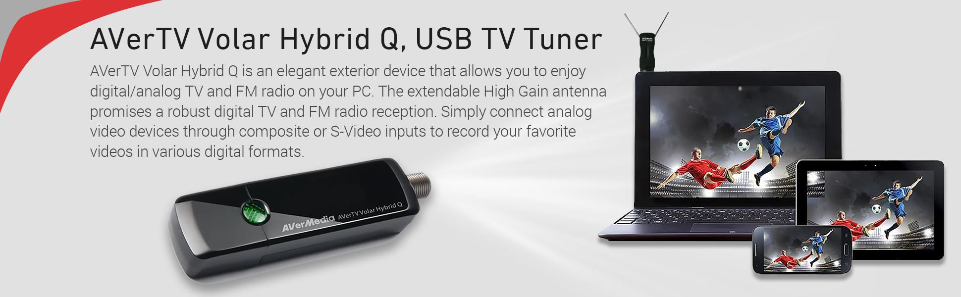 Amazon Com Avermedia Avertv Volar Hybrid Q Usb Tv Tuner