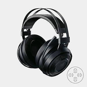 Razer Nari Essential Auriculares Inalámbricos para juegos, comodidad sin compromiso, 16 horas de duración de la batería, THX Spatial Audio e iluminación RGB Chroma para PC, Xbox One, PS4 y Switch: Razer: