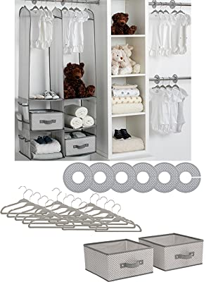 24pcs Children Nursery Closet Organizer Set Baby Clothes Hanging Wardrobe Storage Baby Clothing Kids Toys Organizer Spare No Cost At Any Cost Children Wardrobes