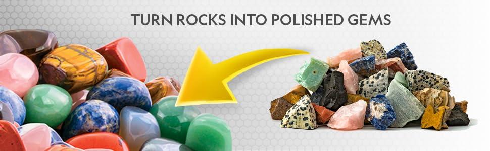 rock tumbler refill kit jasper gemstone rock for tumblers polish polisher rough gems grit stone grit