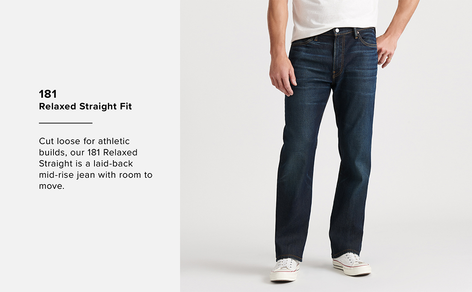 181 Relaxed Straight Fit Jean, lucky brand jeans men, lucky jeans men, lucky jeans, mens lucky brand
