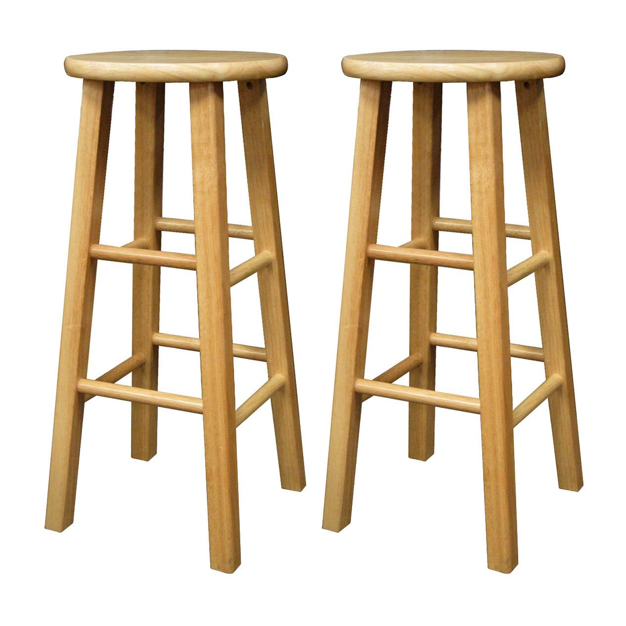 Set of 2 Square Leg 29  Stool Assembled  sc 1 st  Amazon.com & Amazon.com: Winsome Wood 29-Inch Square Leg Barstool with Natural ... islam-shia.org