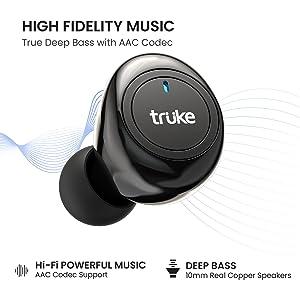 truke fit 1+ true wireless earbuds bluetooth headphones earphones headset airpods bassbuds ear bud