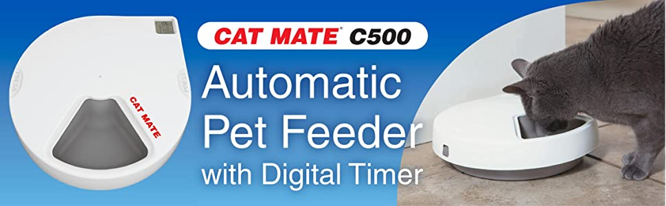 Pet Supplies Cat Mate C500 Automatic Pet Feeder With