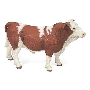 Papo Simmental Cow Farm Animal Barn Pretend Play 51133 NEW