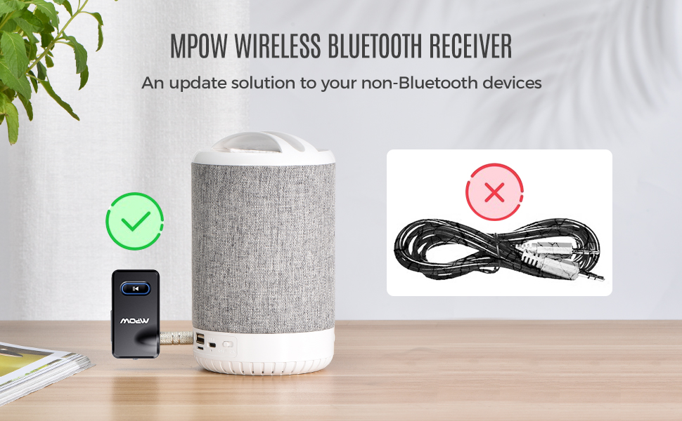 Mpow Bluetooth receiver adapter