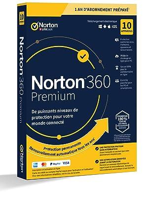 Norton 360 Premium [FR] + Licence 2022
