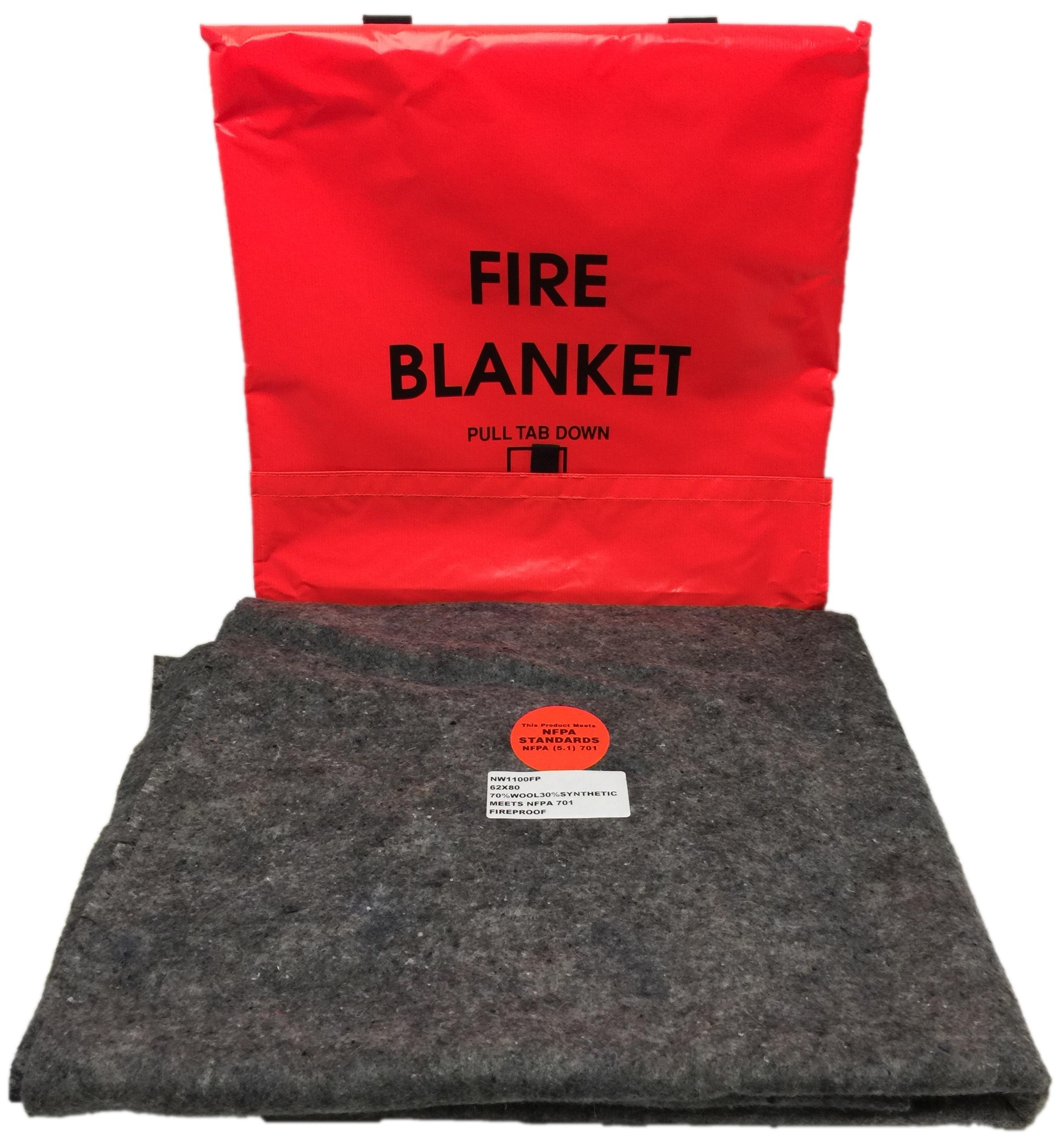 amazoncom think safe  bright orange fire blanket and  - view larger