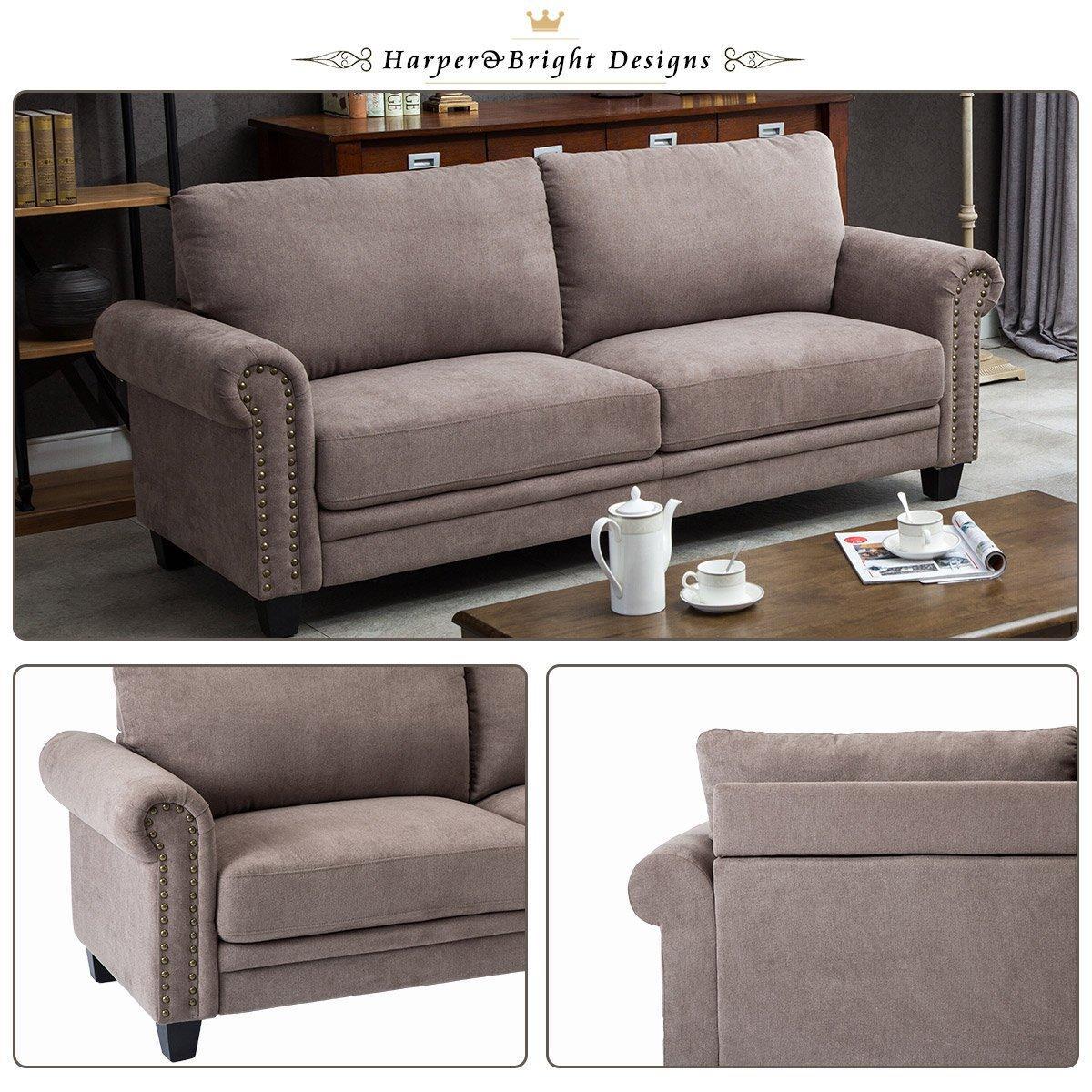 Living Room Set Amazon: Harper&Bright Designs Living Room Sofa Set Collection