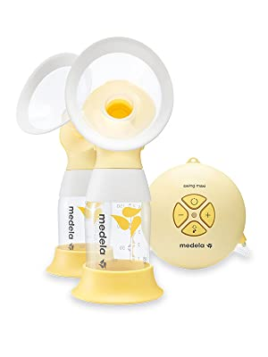 swing maxi flex breast pump, double pumping, double breastpump, baby