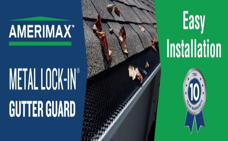 Amerimax Home Products 636025 Lock In Gutter Guard Black