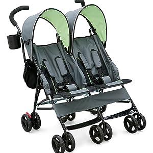delta children stroller baby gear twin side by side tandem