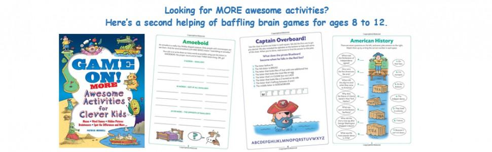 puzzles, activity books, children's books, games,