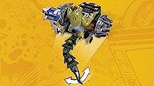 Killer Croc's Battle Chomper features the detachable Killer Croc big figure and movable tail