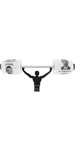 Fairly Odd Novelties Obama Flushed Away Toilet Paper w/Strong Man Holder
