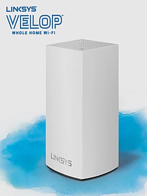 多様化するライフスタイルに、家中どこでも安定WiFiスポット LINKSYS Velopデュアルバンド
