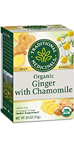 Traditional Medicinals Organic Ginger with Chamomile Herbal Tea