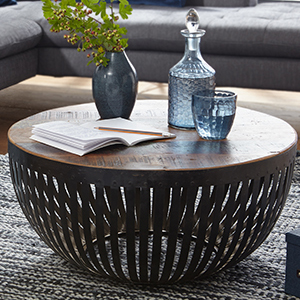 Finebuy Couchtisch Nishu 70x33x70 Cm Holz Metall Wohnzimmertisch