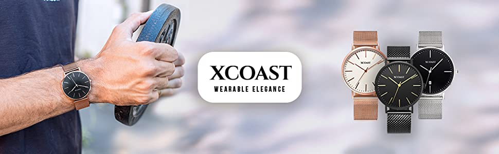XCOAST, X-WATCH, Analogue watch, Quartz watch