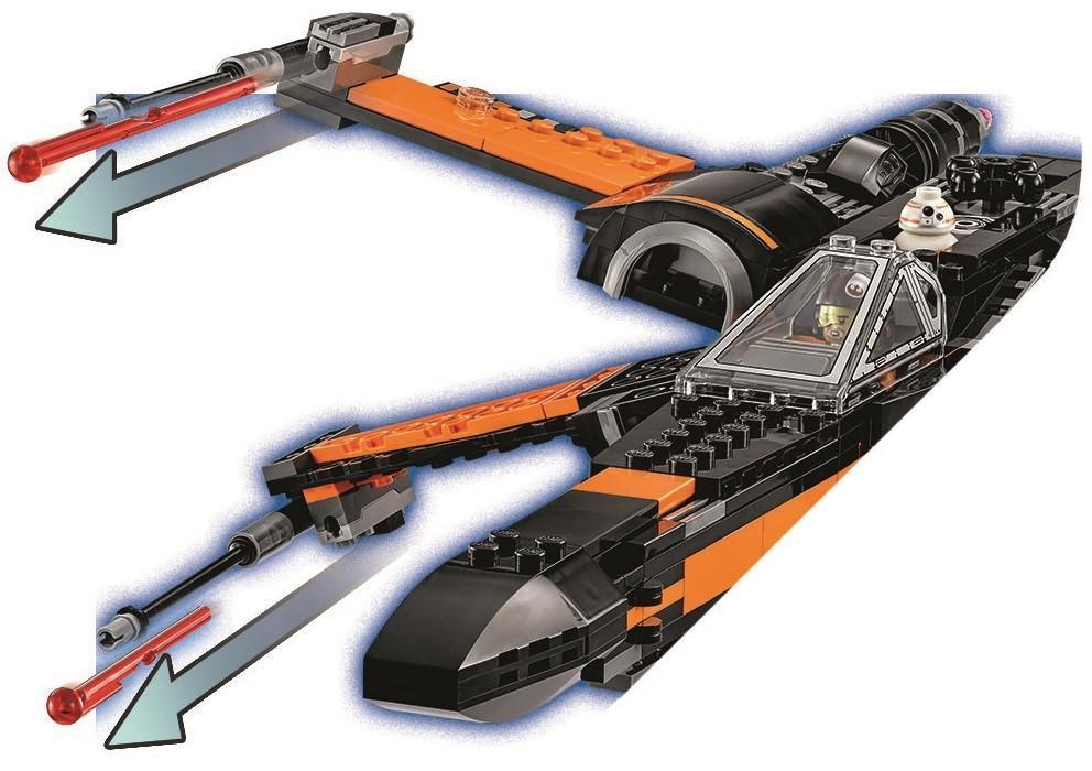 LEGO Star Wars - Poe's X-Wing Fighter, Juguete de