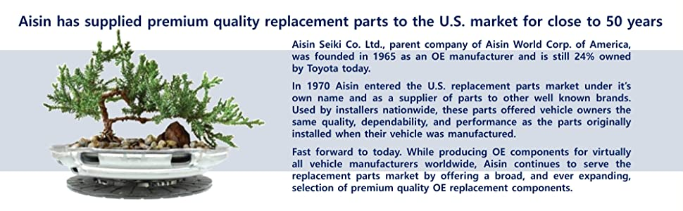 Aisin Seiki Co. Ltd. Toyota OE manufacturer high quality replacement parts