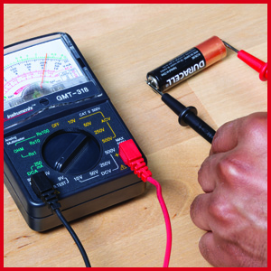 Gardner Bender Analog Multimeter, battery test