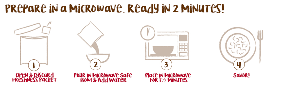 Prepare Simple Sensations in a microwave. Ready in 2 minutes!