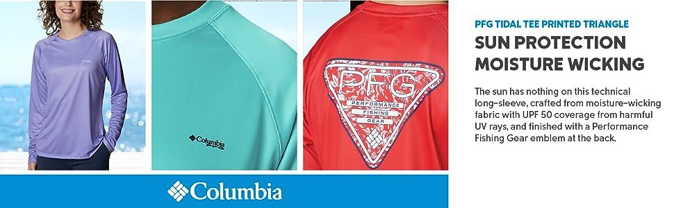 Columbia Women's PFG Tidal Tee Printed Triangle Long Sleeve Shirt