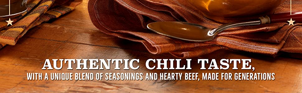 Authentic chili taste with a unique blend of seasonings and hearty beef – Wolf Canned Chili