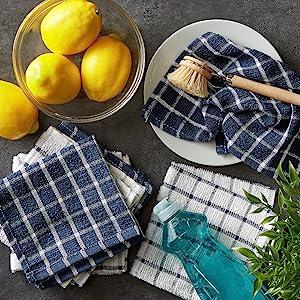 sets tea rag light cobalt super yellow white q pink organic pack mop hanging mustard dii checkered