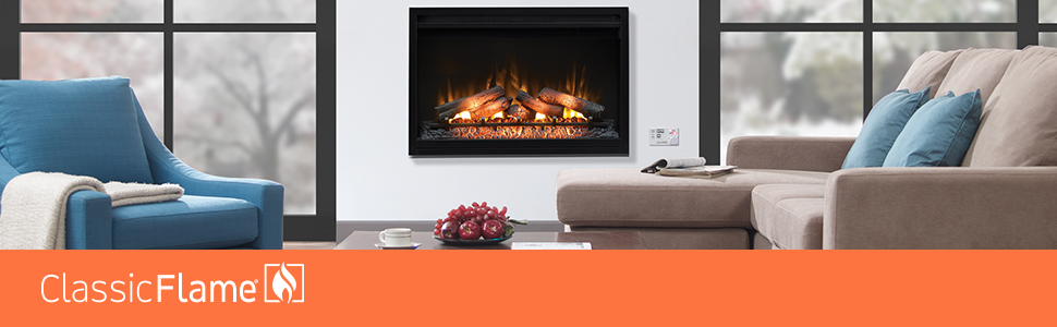 Incredible Classicflame 36Eb111 Grc 36 Contemporary Built In Electric Fireplace Insert 120 Volt Interior Design Ideas Gentotryabchikinfo