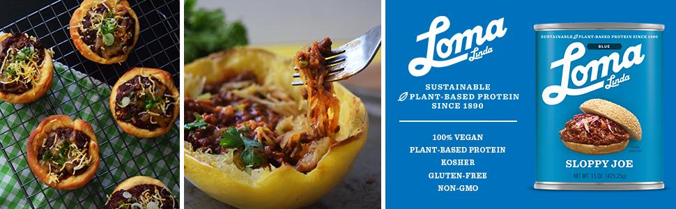 Loma Linda Blue - Plant-Based - Sloppy Joe (15 oz.) - Non-GMO, Gluten Free, Kosher