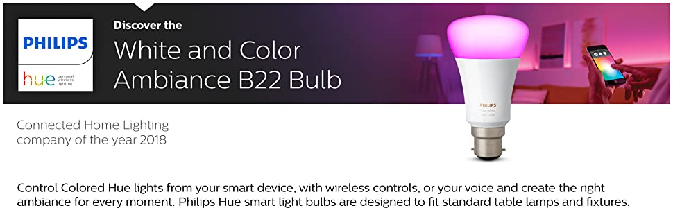 Philips Hue Colour B22 Bulb