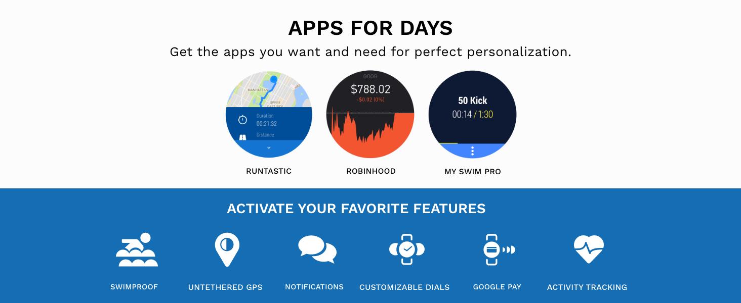 Skagen falster 3 smartwatch, smart watch apps, running, stock market, swimming